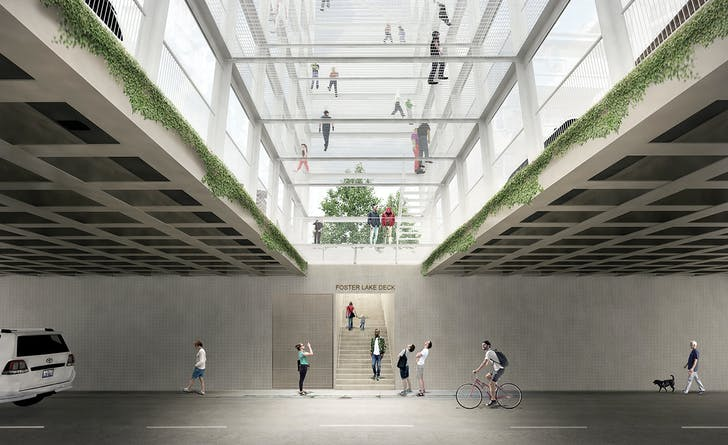 Lattices on the Drive. Underpass. 1st Prize winning entry for the 2016 Chicago Prize.