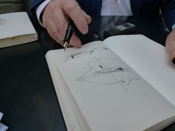 Oubrerie sketches. Photo credit: Orhan Ayyüce.