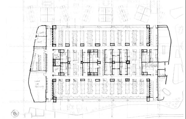 Typical Lab Floor Layout Sketch