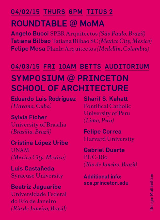 Poster courtesy of Princeton University School of Architecture.