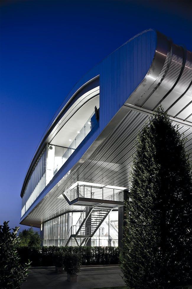 Ferrari Company Restaurant in Maranello, Italy by MDN Marco Visconti & Partners (Partner & design leader: Giuliano Pairone)