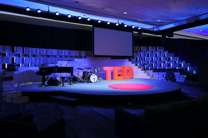 The pedagogically influential TED stage.