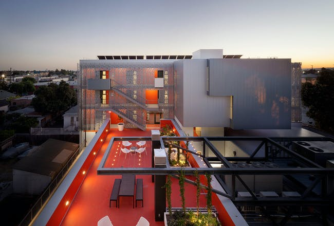 Housing winner: 28thStreet Apartments, USA by Koning Eizenberg Architecture. Image courtesy of WAF.