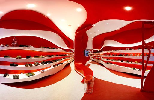 Interior of the new Camper store in Granada, Spain by A-cero (Photo: Juan Sánchez)