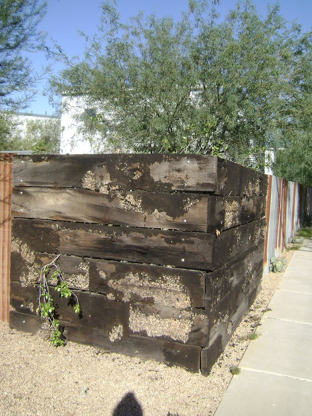 Typical Material Reuse to Create Yard Walls