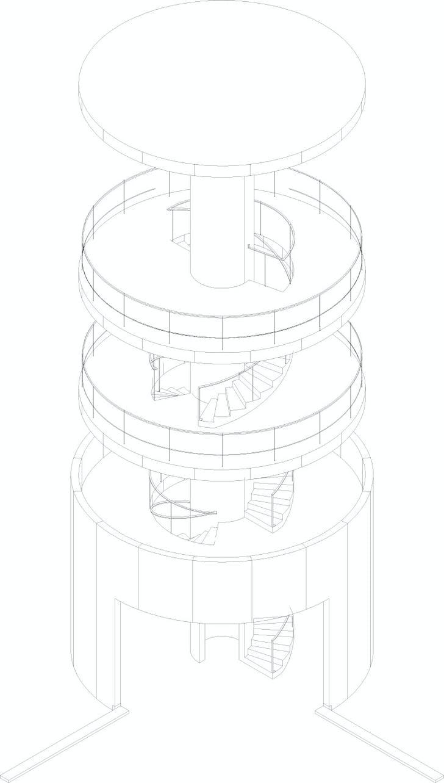 Tower axo (Image: Álvaro Siza Vieira)