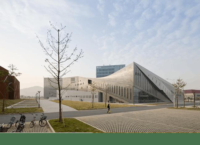 The Nanjing Performing Arts Center utilized local building techniques. Credit: Preston Scott Cohen, Inc.