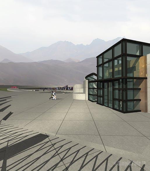 Bamiyan Cultural Centre - Main entrance