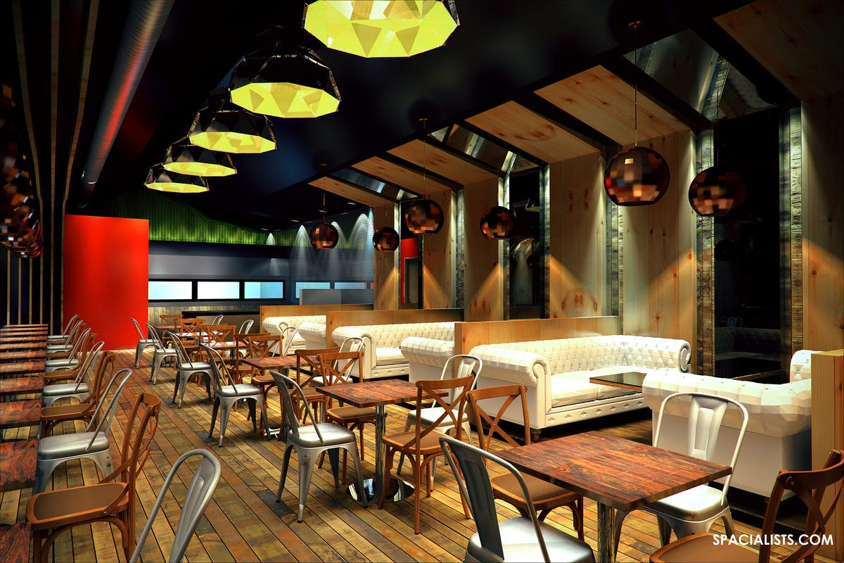New restaurant design d visualization spacialists