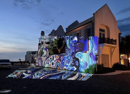 Digital Graffiti at Alys Beach by Brett Phares. Image courtesy CODAawards