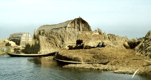 Reed houses in the Iraq marshes, 1978. Photo: Paul Dober.
