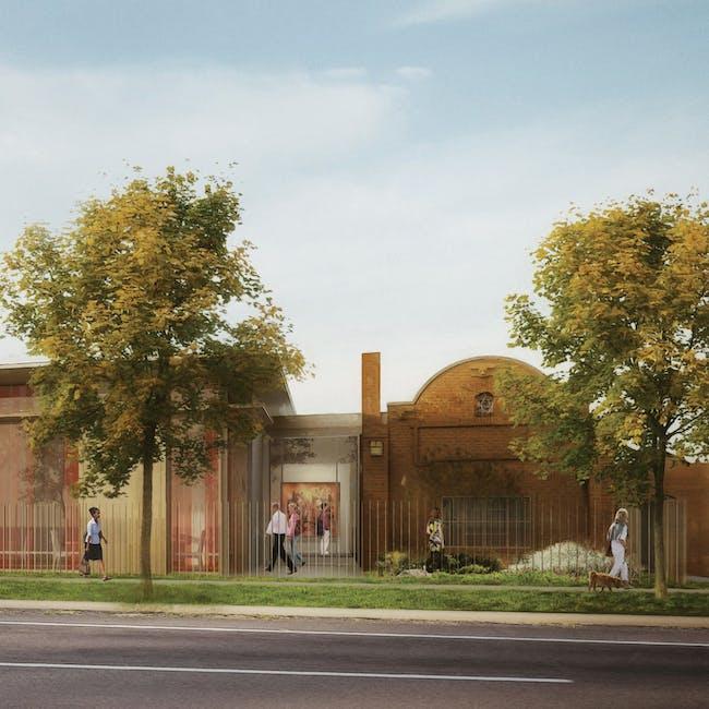 A rendering of the new Kirkland Museum of Fine & Decorative Art. via Olson Kundig