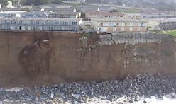 Cliff-side apartments on the brink of collapse following El Niño storms in California