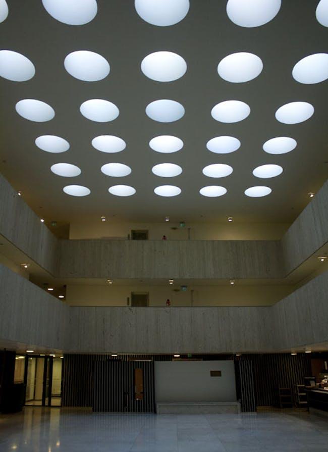 Skylights at Alvar Aalto's Rautatalo (Iron House)