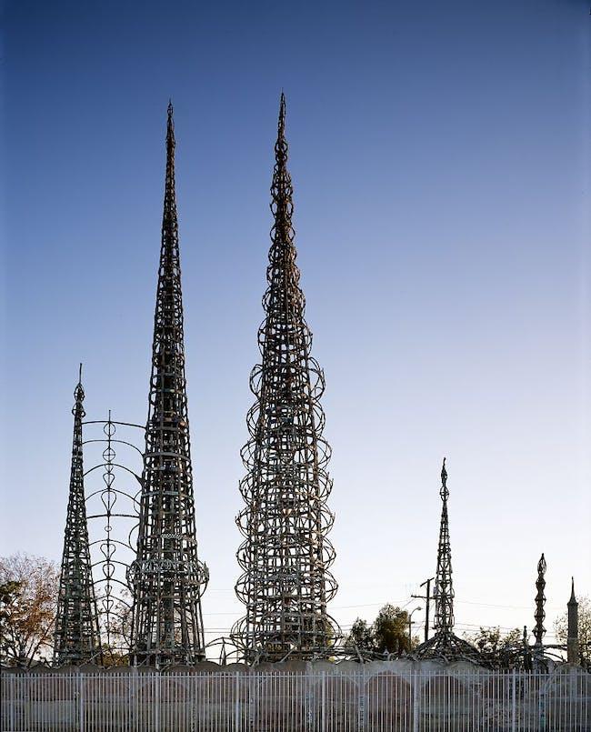 Watts Towers, image via Wikipedia.