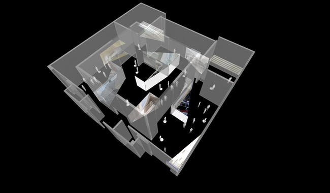 Topview of the 2014 Spanish Pavilion, 'Interior', at the Venice Biennale. Image courtesy Sio2 Arch