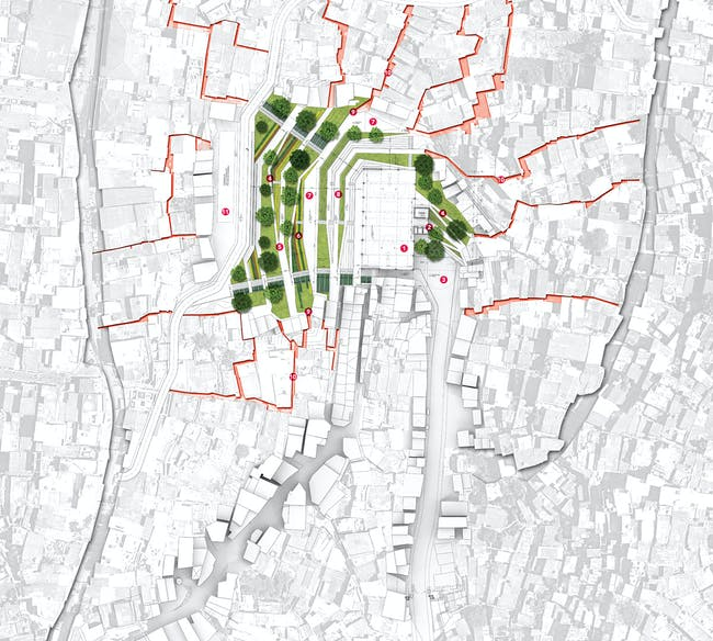 Global Holcim Awards Silver 2012: Urban remediation and civic infrastructure hub, São Paulo, Brazil: Site map. (Image © Holcim Foundation)