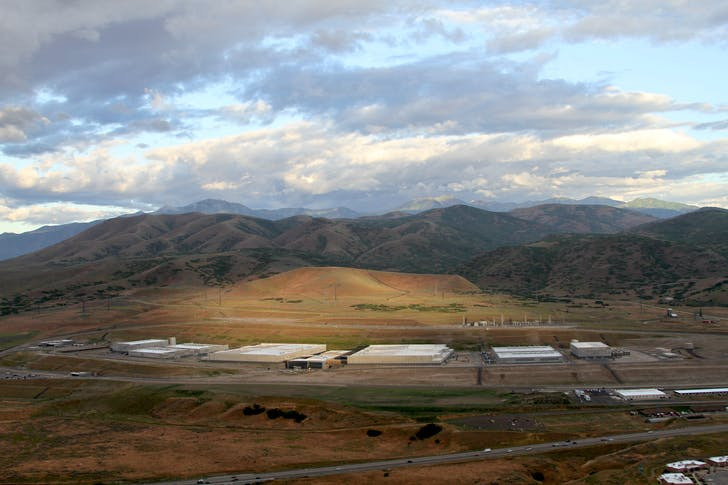 The National Security Agency's million square foot data center at Bluffdale, Utah. Image from Electronic Frontier Foundation (EFF), courtesy of New Geographies.