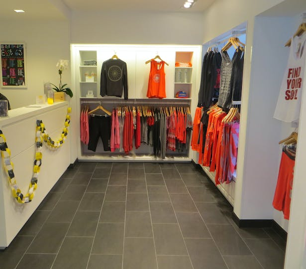 custom retail display units and solid surface reception desk