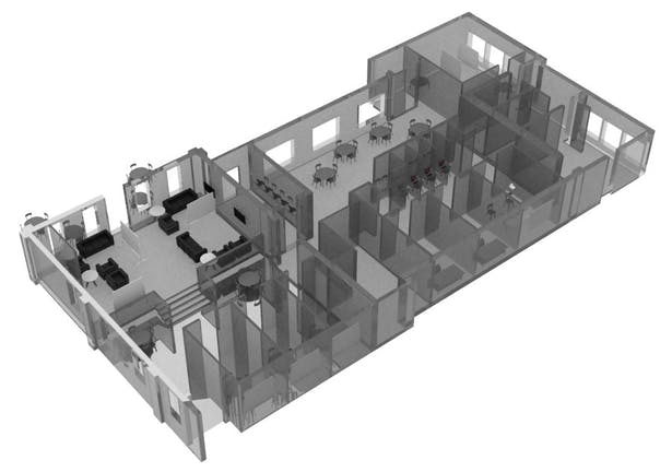 2nd Version, Designed when a building was selected as a possible remodel