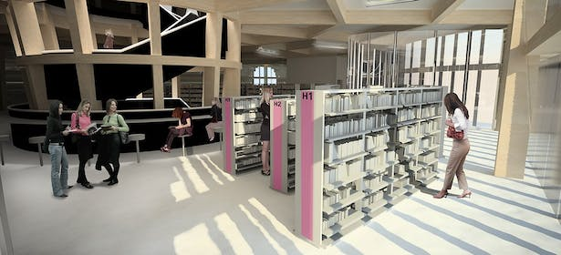 Interior - Library space
