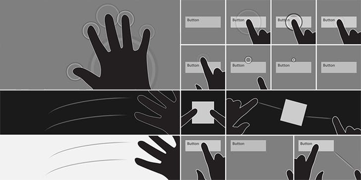 Moneta created these design explorations of the touch feedback system for the Microsoft Surface table.