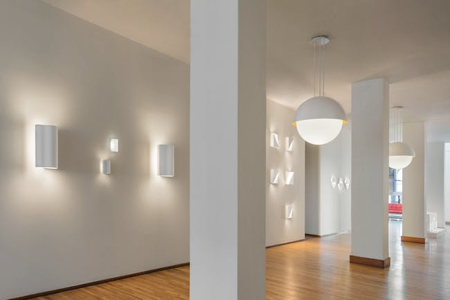 Richard Meier Light display at the Ralph Pucci New York showroom. Photo: Scott Frances.