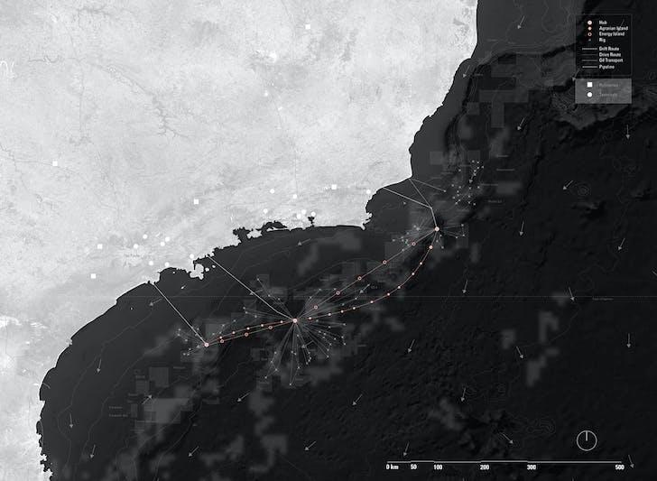 Master plan of Petropolis along the southeast coast of Brazil