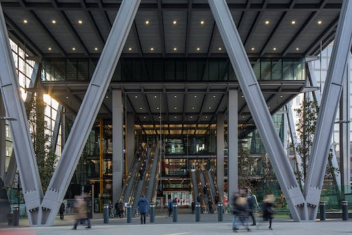 OFFICE BUILDINGS: The Leadenhall Building, EC3 by Rogers Stirk Harbour + Partners. Photo: Paul Raftery