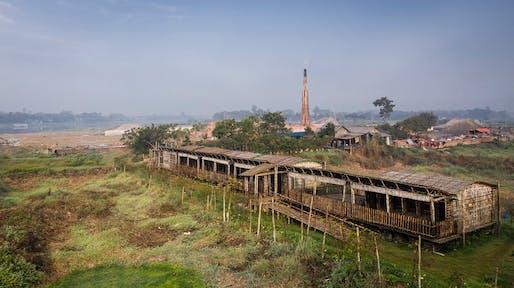 General view of the building during the dry season, Arcadia Education Project, South Kanarchor, Bangladesh. Photo © Aga Khan Trust for Culture / Sanndro di Carlo Darsa.