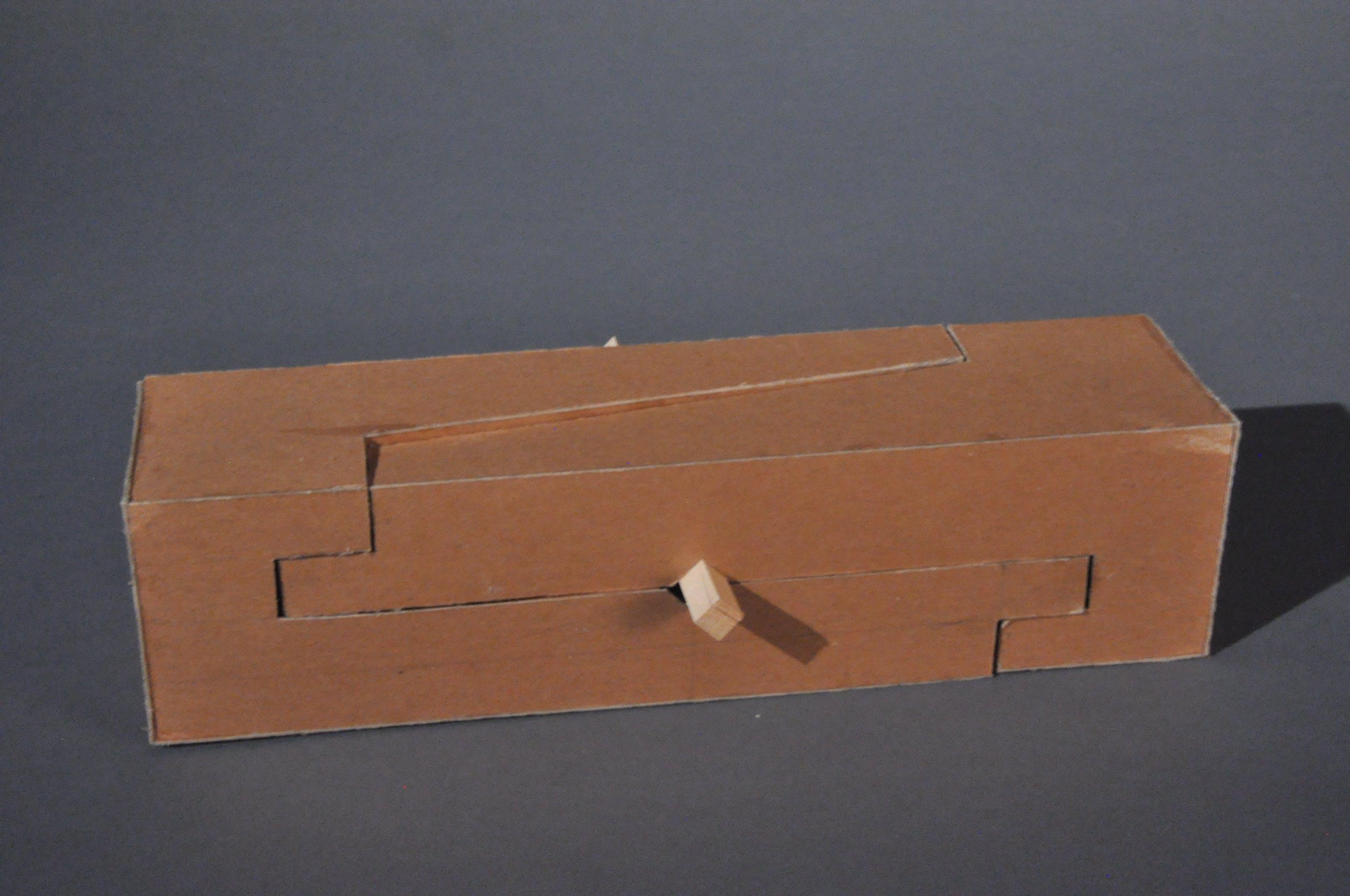 japanese joinery box. japanese joinery inspired model box
