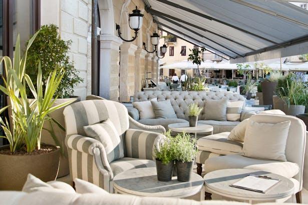 Hotel open terrace