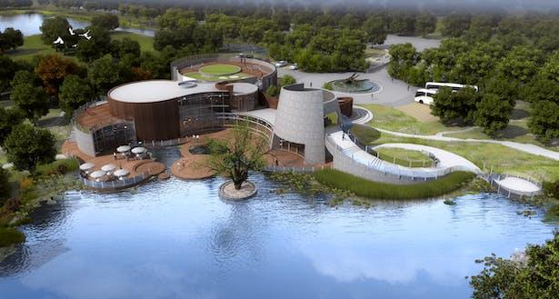Ningbo Botanical Garden Theater Rear Elevation