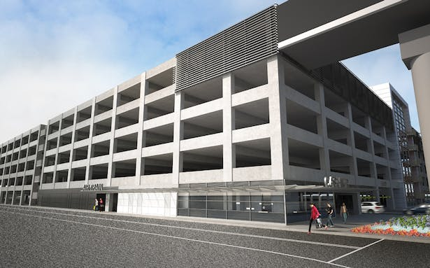 SFO Long Term Parking Garage No. 2 | FMG Architects | Archinect Sfo Long Term Parking Map on sfo transportation map, sfo baggage claim map, sfo airport map,