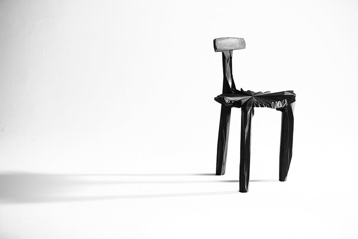 The Noizé chair uses sound recordings of Brazilian street life to alter a model of a Lina Bo Bardi-designed chair. Credit: Guto Requena
