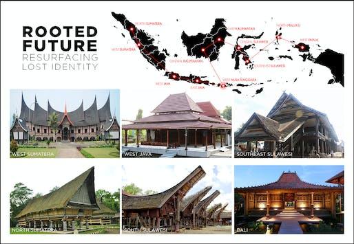 "2018 RAMSA Travel Fellowship winning proposal: ""Rooted Future: Resurfacing Lost Identity"" by Wilson Harkhono. Image courtesy of RAMSA."