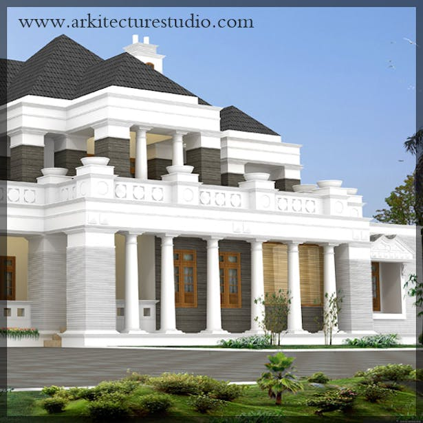 Colonial Style Luxury Kerala Home Design Leading Architects In
