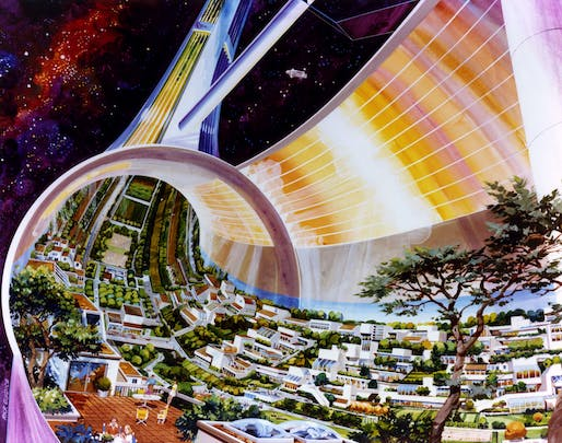 Rick Guidice, 'Stanford Torus Cutaway,' 1975. NASA Ames Research Center. From the 2018 Graham Foundation Individual Grant to Fred Scharmen for 'Space Settlements'.