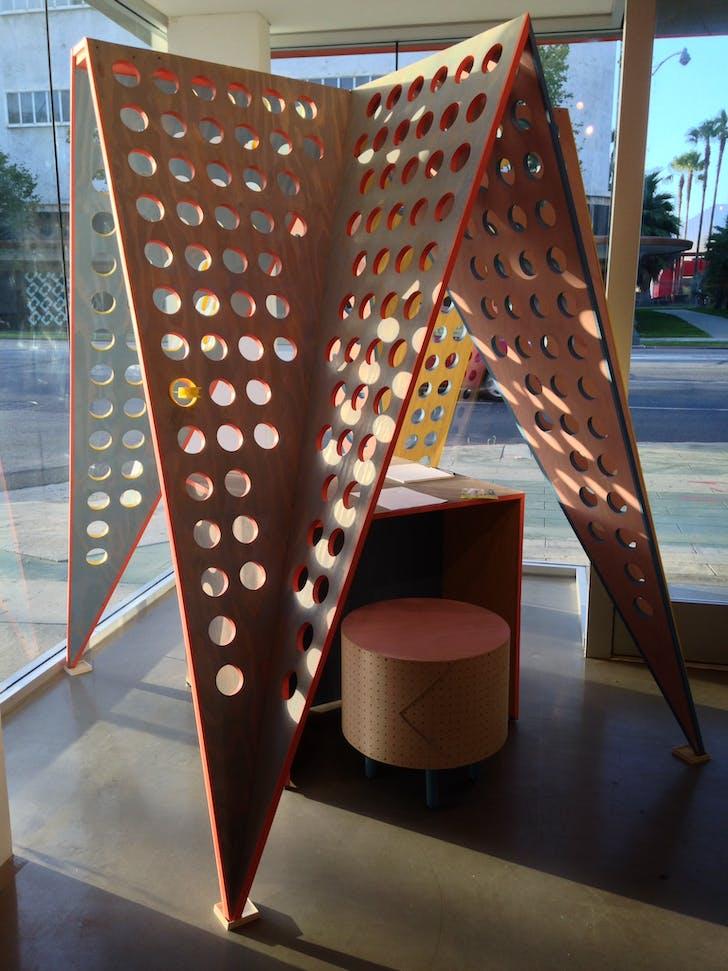 Grey Crowell's 'Objets d'architecture' pavilion, photo credit: Amelia Taylor-Hochberg.