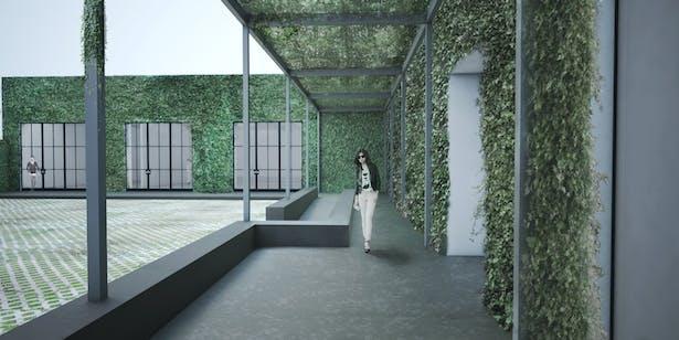 kayne griffin corcoran gallery - courtyard