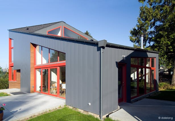 House Corner from Rear Yard