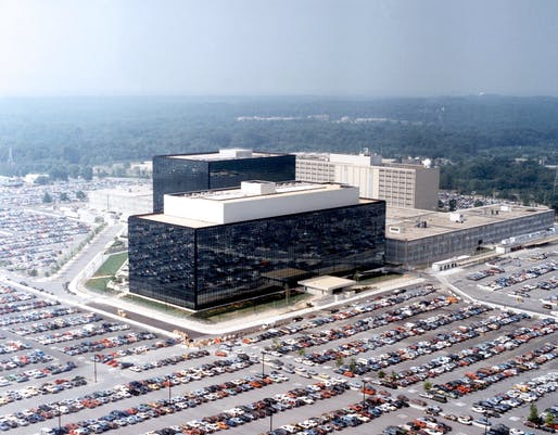National Security Agency headquarters, Fort Meade, Maryland. Image via wikipedia.org.