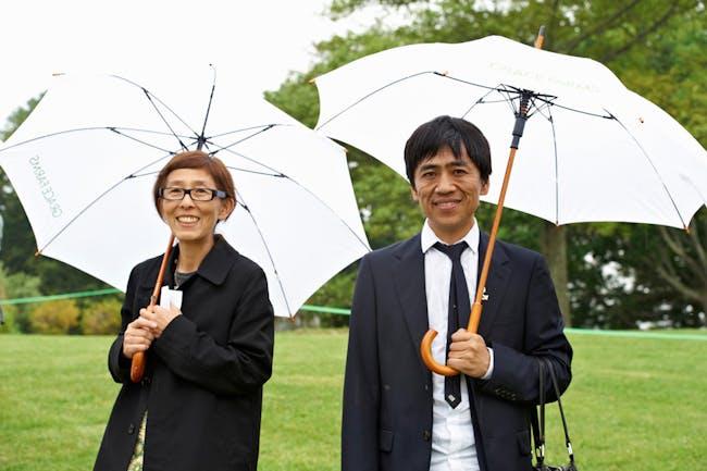 Kazuyo Sejima and Ryue Nishizawa at Grace Farms ground breaking; © Lisa Berg, 2013