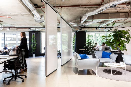 Workplace Design Award: BVN for The Customer Experience Company (NSW). Photo: Brett Boardman.