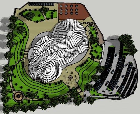 Redesigning of Alhambra Art Complex. (master plan)