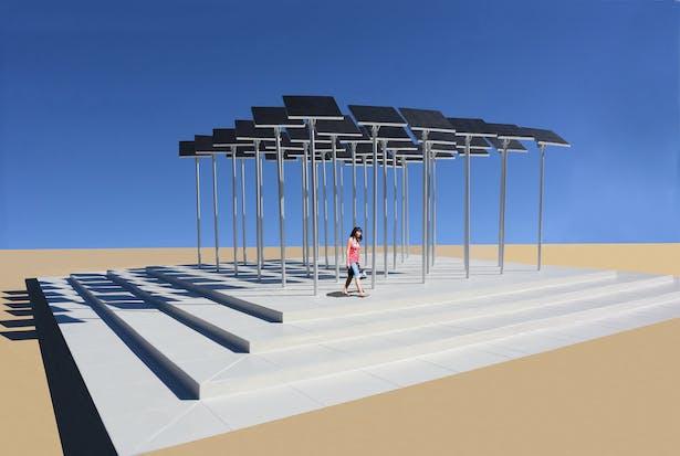 A public art installation