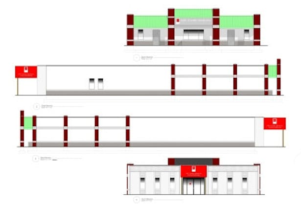 Elevations, developed with VectorWorks