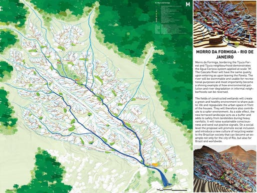BRONZE AWARD: Sanitation system in informal communities, Rio de Janeiro, Brazil. Project authors: Eva Pfannes and Sylvain Hartenberg, Ooze Architects, Rotterdam, the Netherlands.