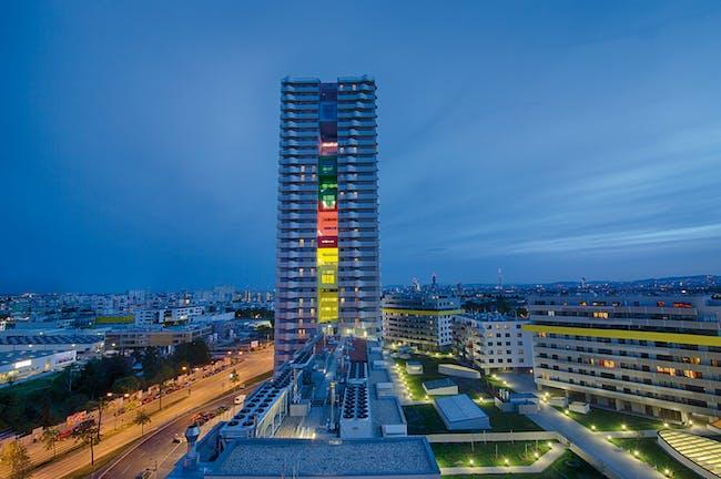 Citygate Tower | Vienna, Austria by Querkraft Architekten. Photo © Lukas Dostal.