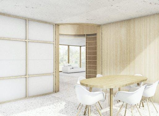 Movable house rendering © Rahbaran Hürzeler Architekten